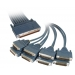 8 Lead Octal Cable with 8 Male RS232/V.24 DTE Connectors
