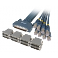 8 Lead Octal Cable and 8 RJ45 to DB25 adapters