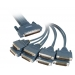 8 Lead Octal Cable with 8 Male DB25 Connectors 72-0990-01